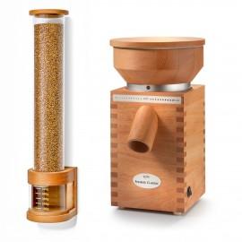 Getreidemühle KoMo Fidibus Classic und Getreidespeicher